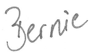 handschrift bernie
